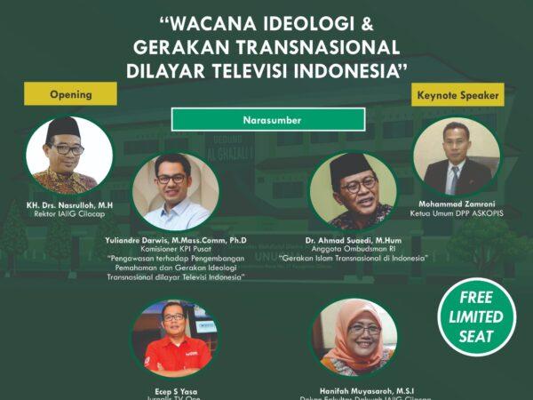 Webinar : Wacana Ideologi dan Gerakan Transnasional dilayar Televisi Indonesia